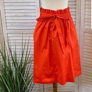 Halogen for Nordstrom orange spice skirt large NWT